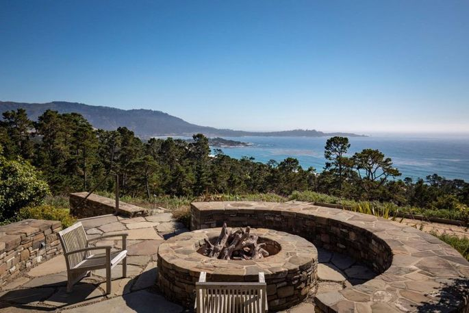 Fire pit and views