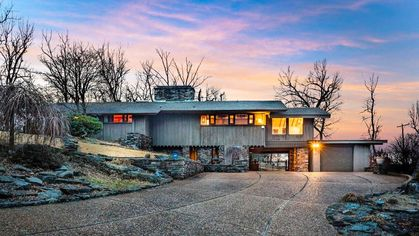 Affordable Redwood and Stone Stunner With Frank Lloyd Wright Pedigree on Sale in AR