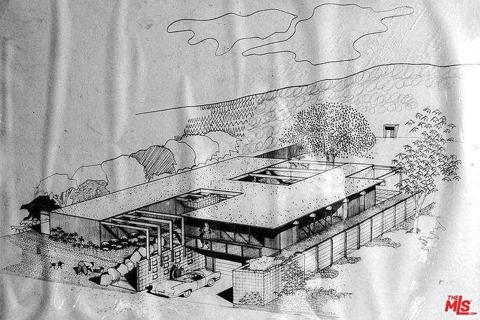 Architectural drawing by Richard Nevara