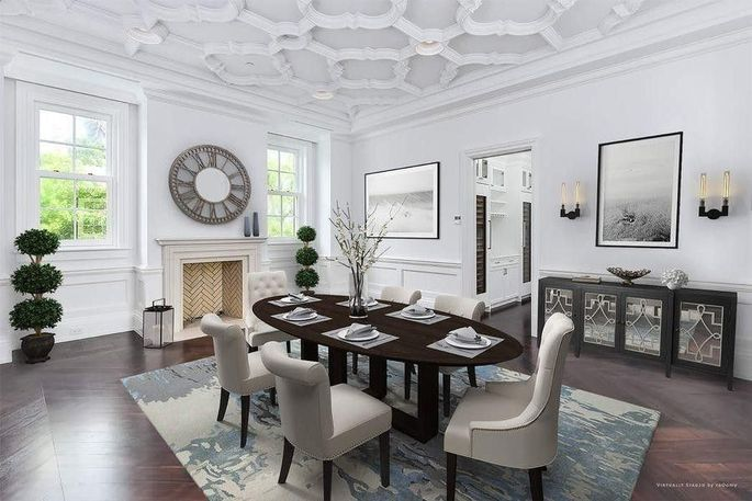 Dining room with butler's pantry
