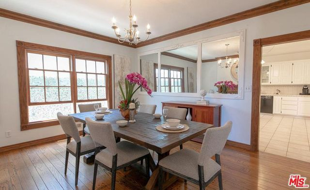 Dining room at Gina Rodriguez home