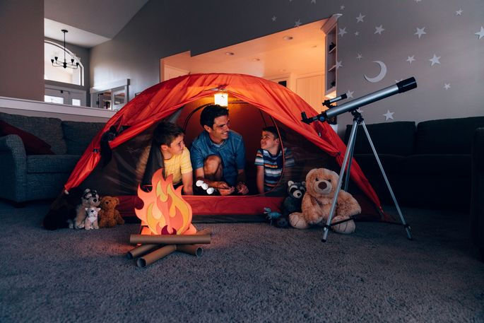 Living-room camping