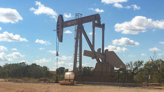 Oil derrick in Pawnee