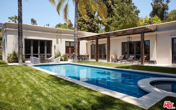 Backyard and pool