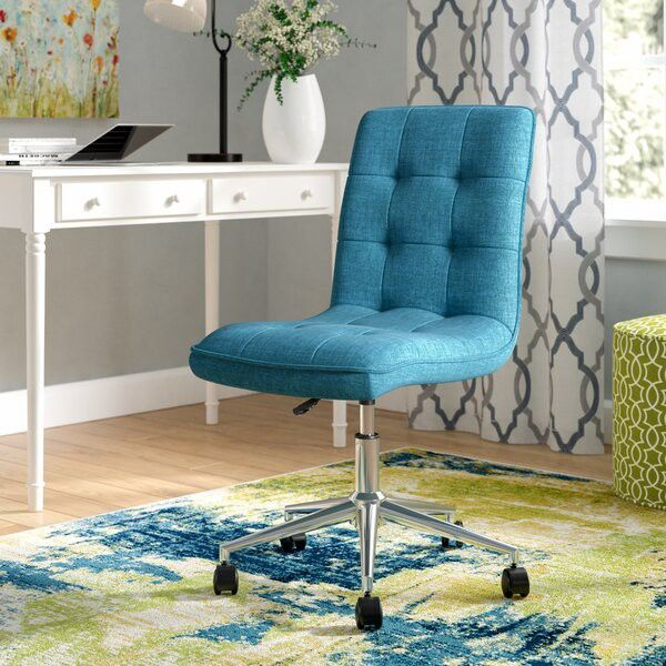 An upholstered office chair keeps you comfy as you work.