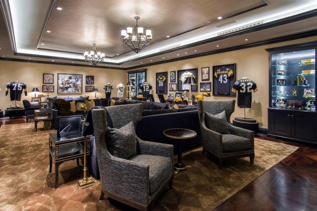 Pittsburgh Steelers themed sports lounge