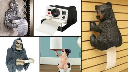 9 Hilarious Toilet Paper Holders That Your Bathroom Absolutely Needs