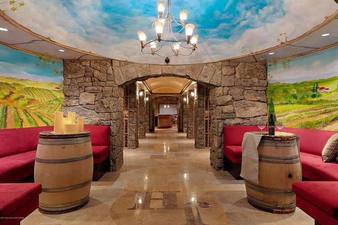 Wine room with tunnel