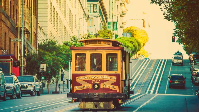 The streets of San Francisco, CA