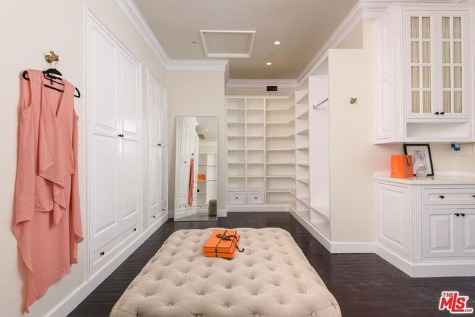 One of two closets in the master suite