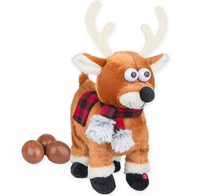 This reindeer poops at the push of a button. Hooray?