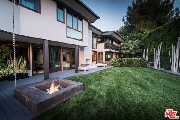 Synthetic lawn at Trent Reznor's house.
