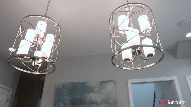 """These unique chandeliers gave the room the """"wow"""" factor that the Lightners craved."""