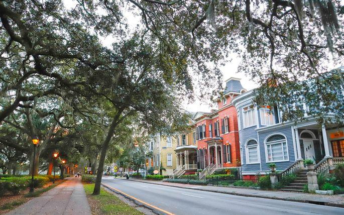 Historic Savannah, GA, has a high flood risk.