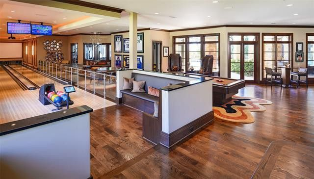 Bowling alley and game room