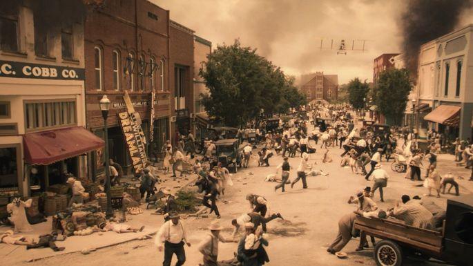 "1921 Tulsa Race Massacre, as depicted on HBO's ""Watchmen"""