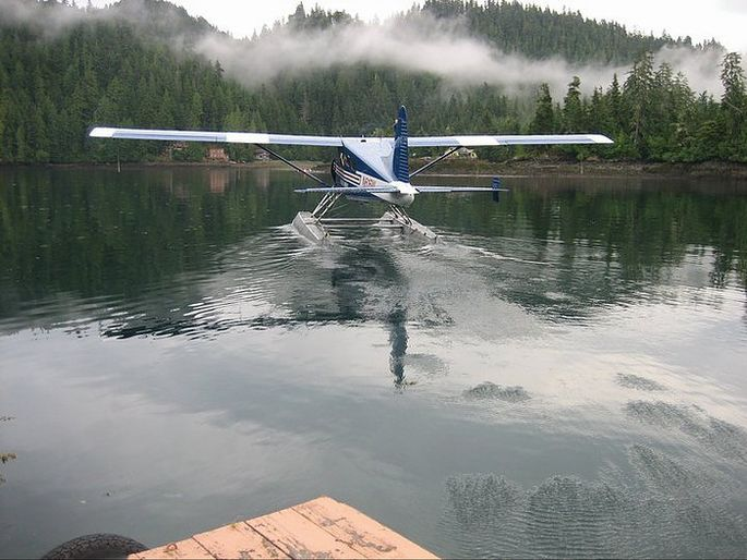 Mail delivery by float plane