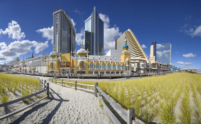 Atlantic City and its boardwalk were hit hard by Hurricane Sandy in 2012.