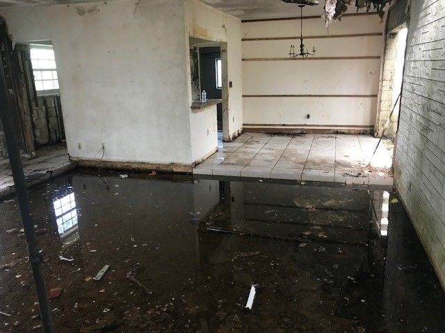 Extensive water damage made the home unlivable.