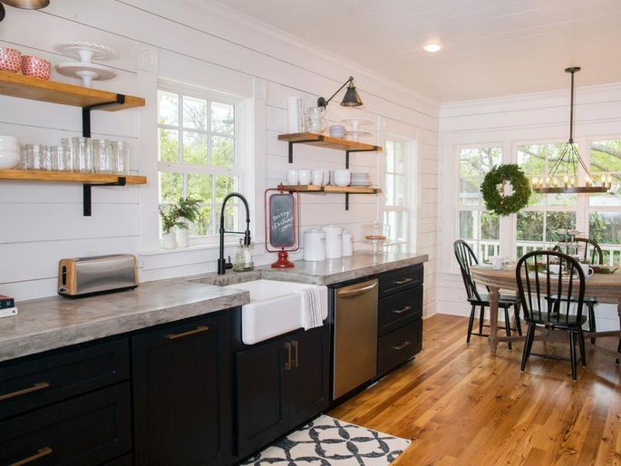The addition of a farmhouse sink is a signature Chip and Joanna Gaines move.