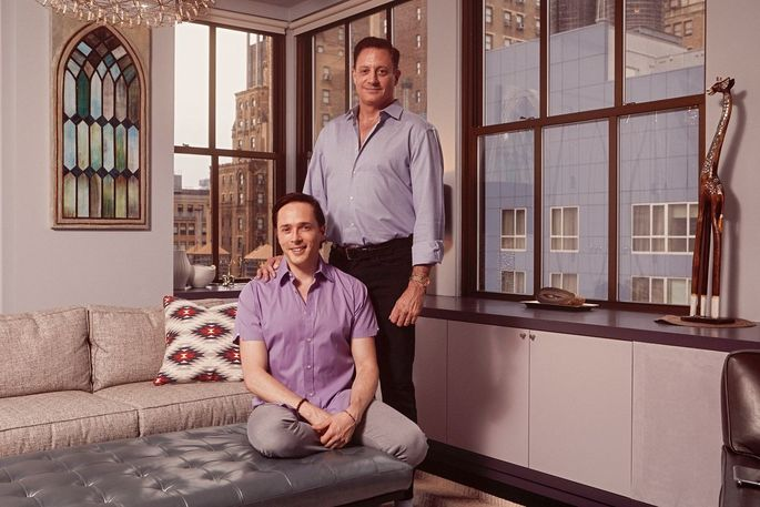 Yuval David, seated, and his husband Mark McDermott are looking to downsize so they can buy a second home closer to Mr. David's family.