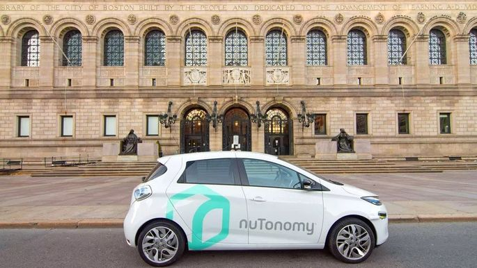 NuTonomy's driverless car, deployed by Lyft in Boston.