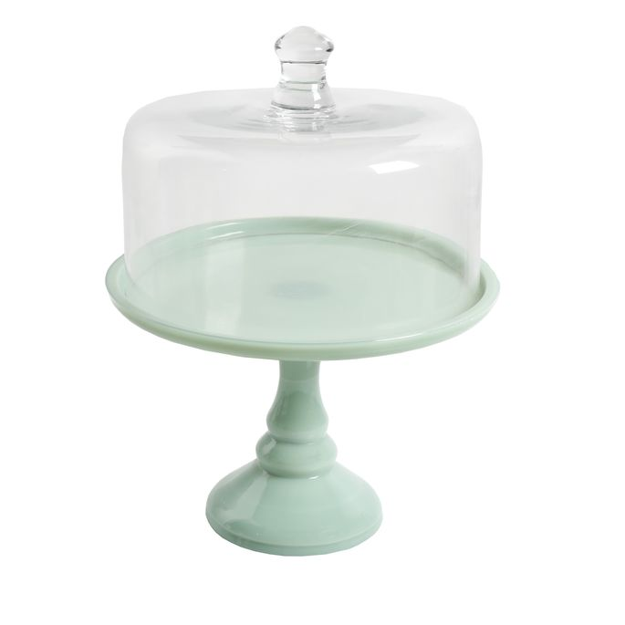 This minty green stand is well-priced for a two-piece set.