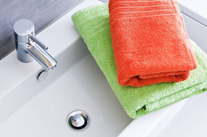 It's hard to keep hand towels fresh. Opt for disposable towels when you're hosting.