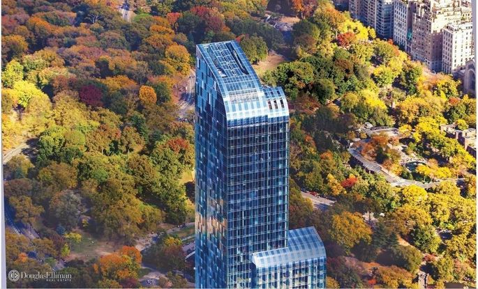 One57 rises to over 1,000 feet above midtown Manhattan.