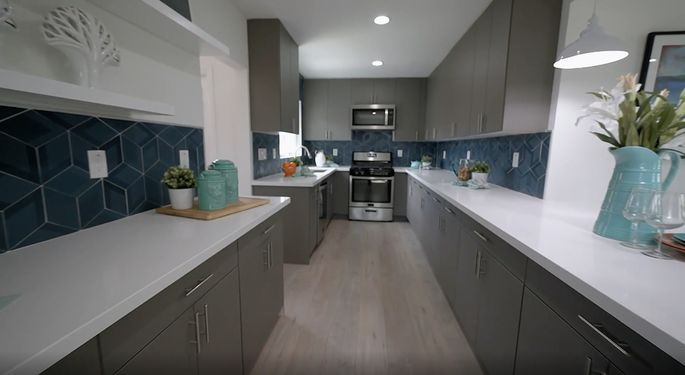 By expanding the kitchen into the dining room, Anstead and El Moussa made the house much more desirable.