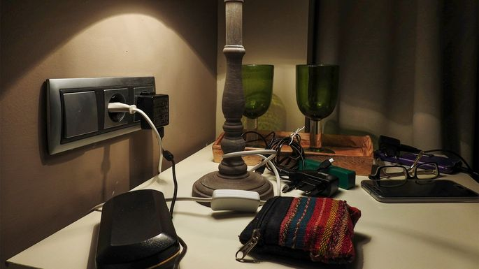 Cluttered nightstand, cluttered mind