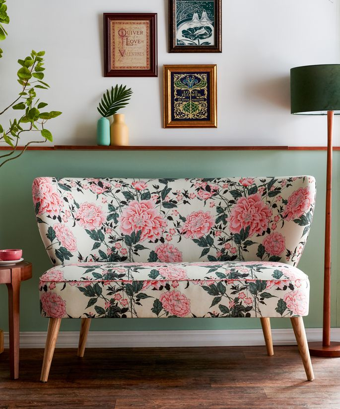 The cozy love seat's cover is 45% linen and 55% cotton for an extra-soft combo.