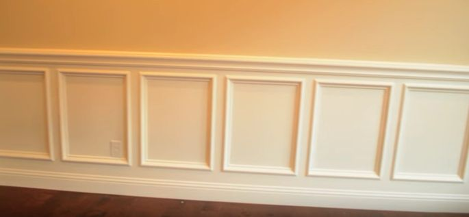 Prime, paint, and finish the wainscoting.