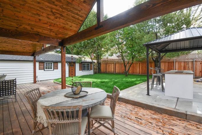 A new patio and grass make this a place you'd want to spend an afternoon.