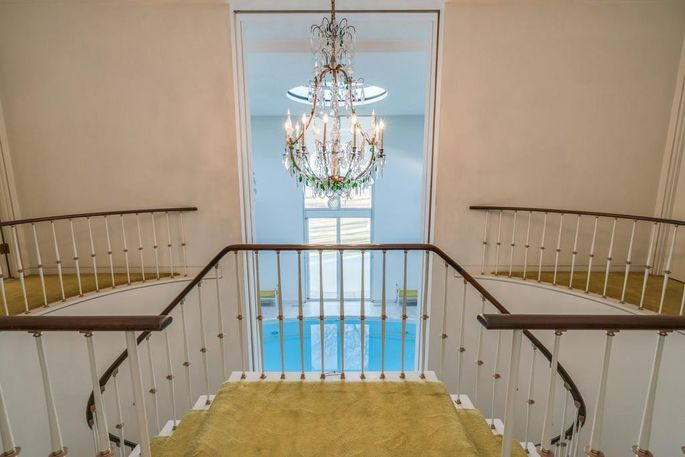 Staircase and pool