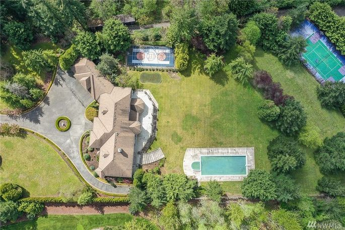 4.7 acres with pool, tennis court, and basketball court