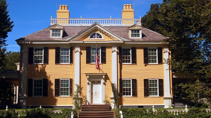 Henry Wadsworth Longfellow House in Cambridge, MA