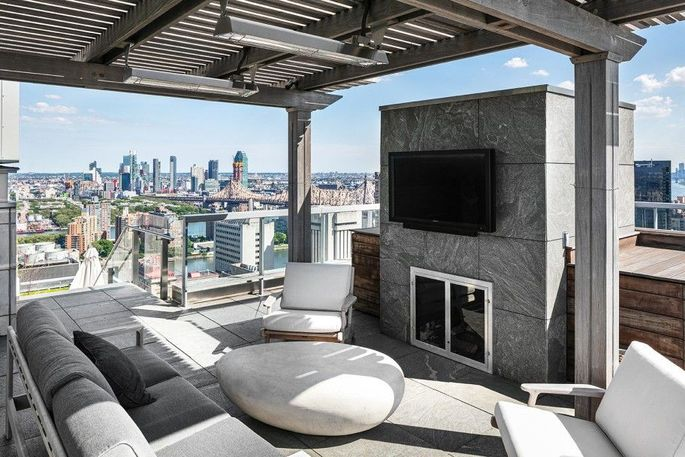 The penthouse boasts 3,000 square feet of outdoor space.