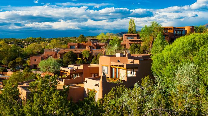 Hillside homes in Santa Fe