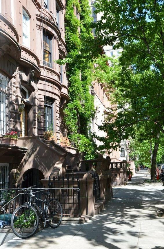 Charming brownstones dot Manhattan's Upper West Side.
