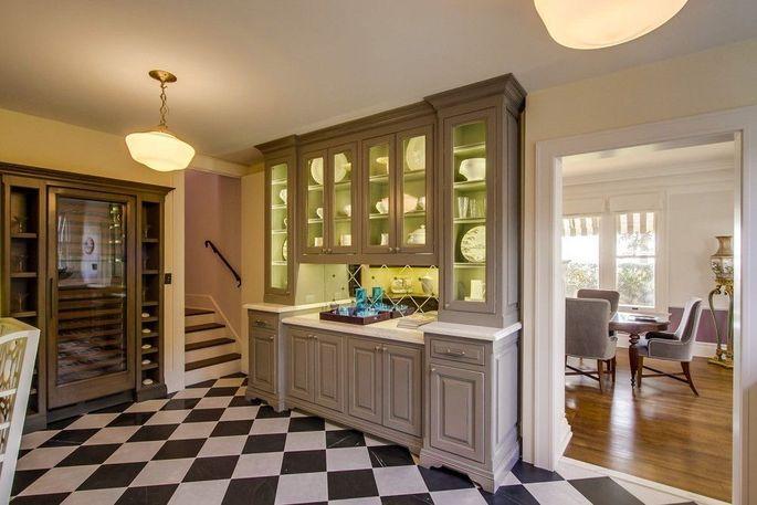 Pantry and wine refrigerator