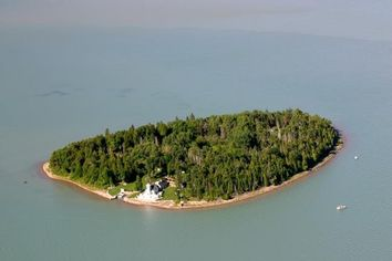 Private Michigan Island Comes With Historic Lighthouse