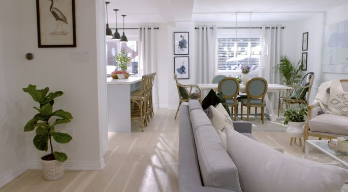 Light flooring helps a home feel big and bright.