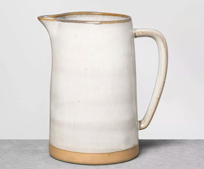 This pitcher keeps drinks hot or cold.