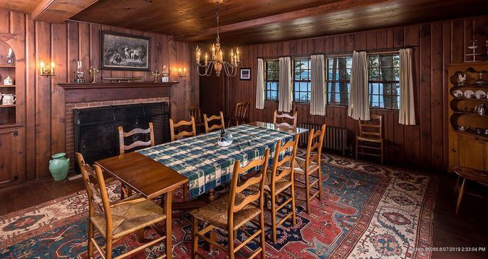 Dining room of main house