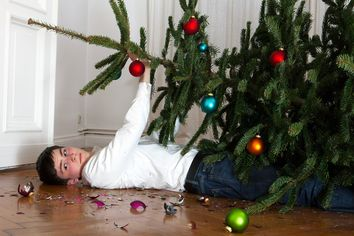 The Fine Art of Setting Up a Christmas Tree Without Destroying Your Home