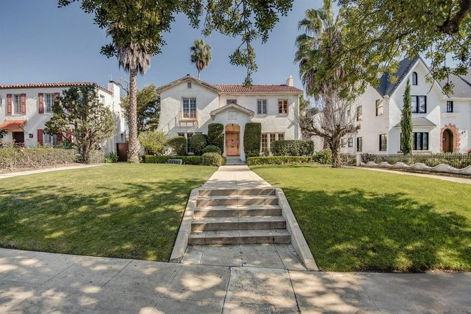 """The """"Property Brothers"""" stars bought this Tudor in Los Angeles."""