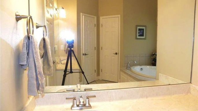 Photography equipment should never be showing in your listing photos!