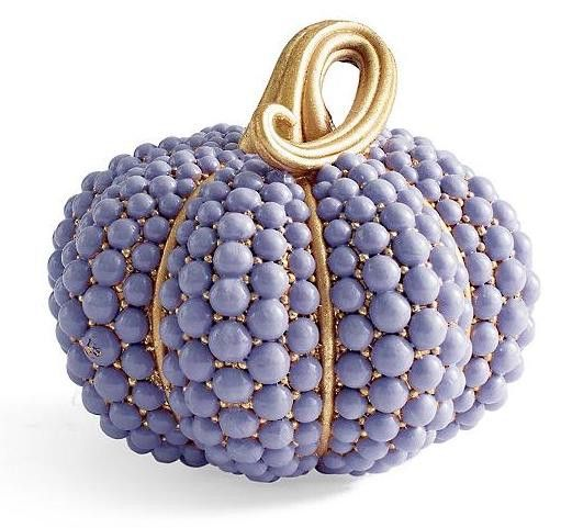 A purple pumpkin is a chic addition to your Halloween decor.