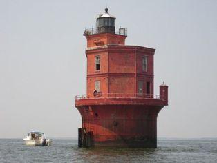 Wolf Trap Light in Chesapeake Bay